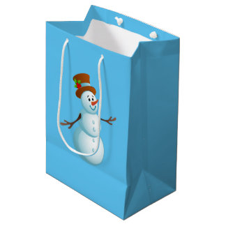 Niedlicher Weihnachtssnowman-mittlere Mittlere Geschenktüte