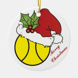 Niedlicher Weihnachtstennis-Entwurf Keramik Ornament