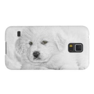 Niedlicher weißer Welpe Samsung Galaxy S5 Cover
