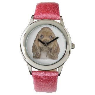 niedlicher Welpe Armbanduhr