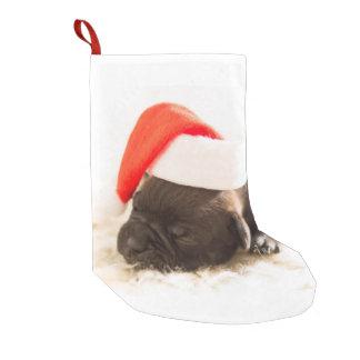 Niedlicher Welpen-HundeweihnachtsStrumpf Kleiner Weihnachtsstrumpf