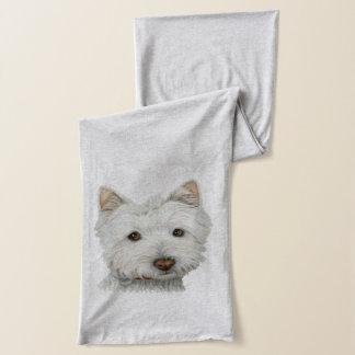 Niedlicher Westie Hundekunst-Schal Schal