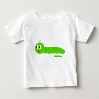 Niedlicher Wurm-Vater und Sohn Baby T-shirt