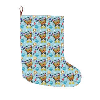 Niedlicher Yorkshire-Terrier-Welpe Großer Weihnachtsstrumpf