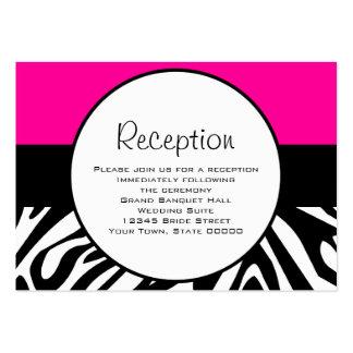Niedlicher Zebra-Druck-kundenspezifisches heißes Visitenkartenvorlage