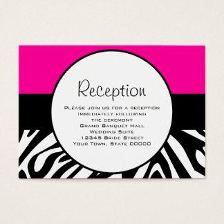 Niedlicher Zebra-Druck-kundenspezifisches heißes Visitenkarte