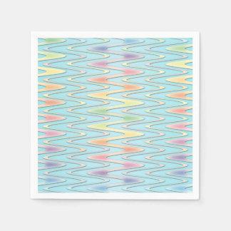 Niedlicher Zickzack-Pastellregenbogen farbige Papierserviette