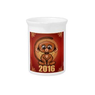 Niedliches 2016 Jahr des Affen Krug