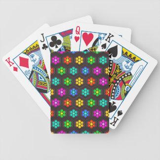 Niedliches abstraktes Blumen-Muster Bicycle Spielkarten