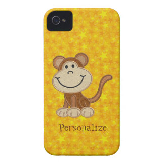 Niedliches Affe-Gelb-personalisiertes BlackBerry Case-Mate iPhone 4 Hüllen