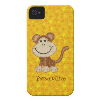 Niedliches Affe-Gelb-personalisiertes BlackBerry iPhone 4 Hüllen