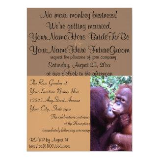 Niedliches Affe-Geschäft, das wir verheiratet 14 X 19,5 Cm Einladungskarte