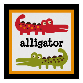 Niedliches Alligatorsafari-Tier-Baby scherzt Poster