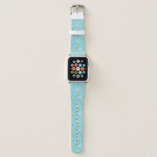 Niedliches Alpaka-Lama-Kaktus-Muster Apple Watch Armband