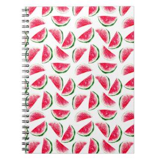 Niedliches Ananas-u. Wassermelone-Muster Notizblock