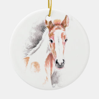 Niedliches Appy Fohlen Keramik Ornament