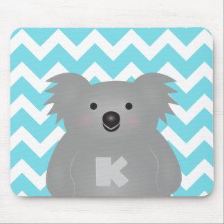 Niedliches Australien-Baby-Koala-Bärn-Monogramm Mousepads