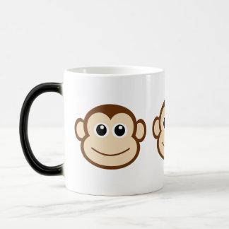 Niedliches Baby-Affe-Gesicht Verwandlungstasse