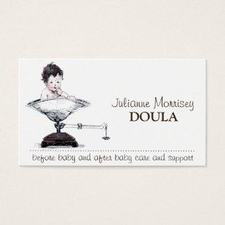 Niedliches Baby auf Skala Doula Visitenkarte