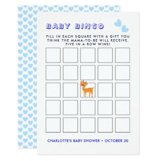 Niedliches Baby-Duschen-Bingo-Spiel Karte