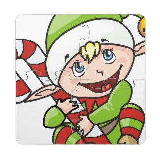 Niedliches Baby-Elf-Weihnachten Puzzle Untersetzer