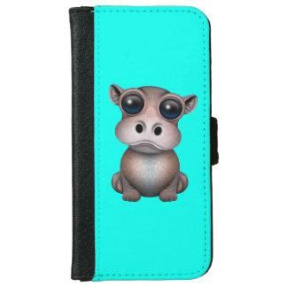 Niedliches Baby-Flusspferd iPhone 6/6s Geldbeutel Hülle