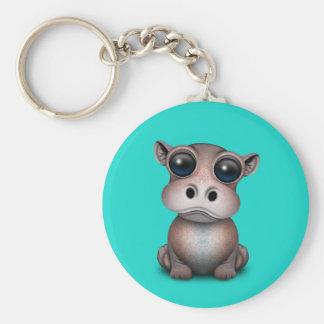 Niedliches Baby-Flusspferd Schlüsselanhänger