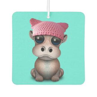 Niedliches Baby-Flusspferdtragender Pussy-Hut Autolufterfrischer