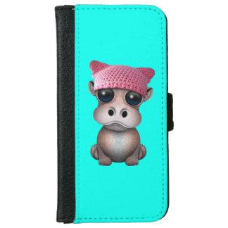 Niedliches Baby-Flusspferdtragender Pussy-Hut Geldbeutel Hülle Für Das iPhone 6/6s