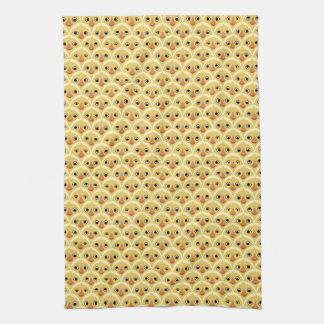 Niedliches Baby-Küken-Muster-Gelb-Küchen-Tuch Küchentuch