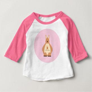 Niedliches Baby-Mädchen-Shirt Mutter-Kangaroo
