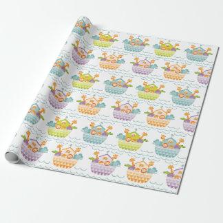 Niedliches Baby Noahs Arche-Verpackungs-Papier Geschenkpapier
