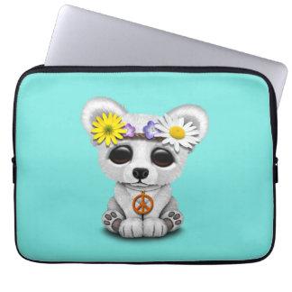 Niedliches Baby-polarer BärenjungesHippie Laptop Sleeve