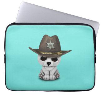 Niedliches Baby-polarer Bärenjungs-Sheriff Laptop Sleeve