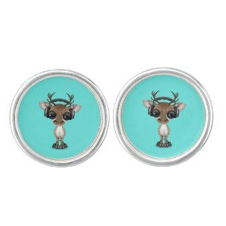 Niedliches Baby-Ren-tragende Kopfhörer Manschettenknöpfe