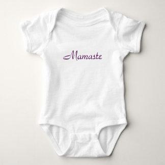 Niedliches Baby T-Stück, das Namaste aber bezieht, Baby Strampler