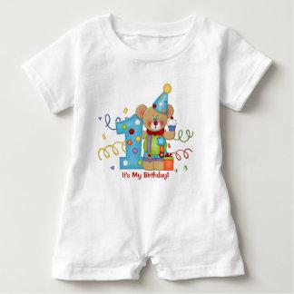 Niedliches Bärn-Geburtstags-T - Shirt-Alter 1 Baby Strampler