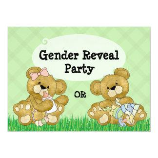 Niedliches Bärn-Geschlecht decken Party auf 14 X 19,5 Cm Einladungskarte