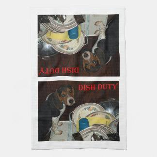 Niedliches Beagle-Welpen-Geschirrtuch Küchentuch