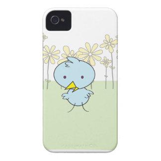 Niedliches blaues Birdie-BlackBerry-mutiger Kasten iPhone 4 Hüllen