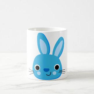 Niedliches blaues Häschen-Kaninchen-Gesicht Tasse