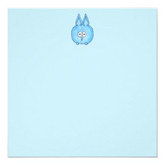 Niedliches blaues Häschen-Kaninchen Quadratische 13,3 Cm Einladungskarte