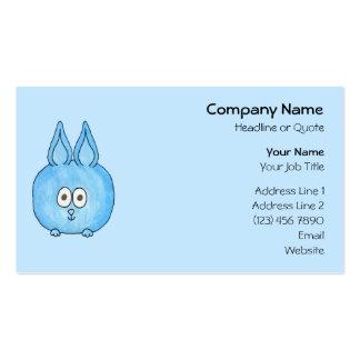Niedliches blaues Häschen-Kaninchen Visitenkarten