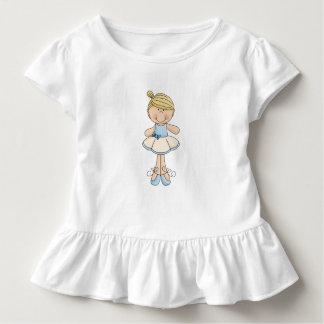Niedliches blondes Ballerina-Mädchen Kleinkind T-shirt
