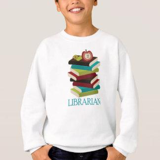 Niedliches Buch-Stapel-Bibliothekar-Geschenk Sweatshirt