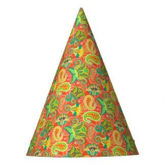 Niedliches buntes nahtloses Paisley-Muster Partyhütchen