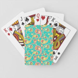 Niedliches buntes Vintages Paisley-Muster Spielkarten