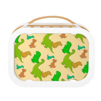 Niedliches Cartoon-Dinosaurier-Muster Brotdose