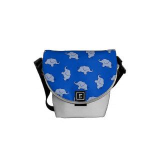 Niedliches Cartoon-Elefant-Muster Kurier Tasche