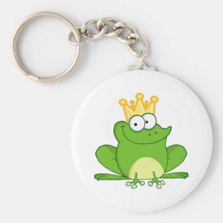 Niedliches Cartoon-Tier König-Frog Frogs Crown Schlüsselanhänger